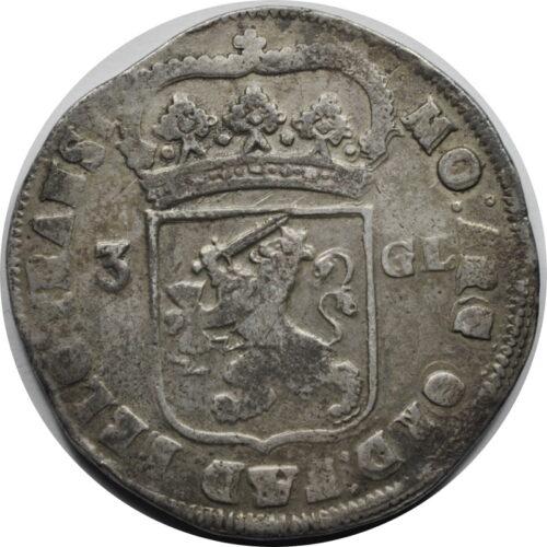 Nidrlandy, Overijssel, 3 guldeny 1721