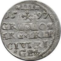 Polska, trojak 1597 Ryga