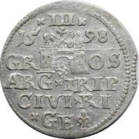 Polska, trojak 1598 Ryga